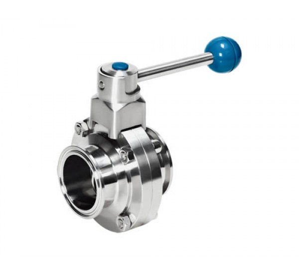 Clamps butterfly valve