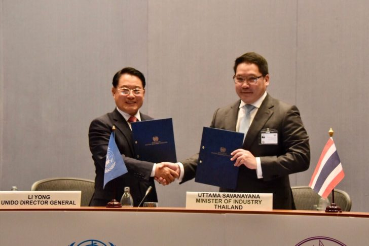 """""""อุตตม"""" จับมือ UNIDO ผลักดันทั่วโลก เดินหน้าเศรษฐกิจหมุนเวียน"""